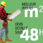 Le bon prix au m2 pour votre rénovation