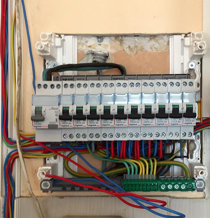 Projet de rénovation du système d'électricité